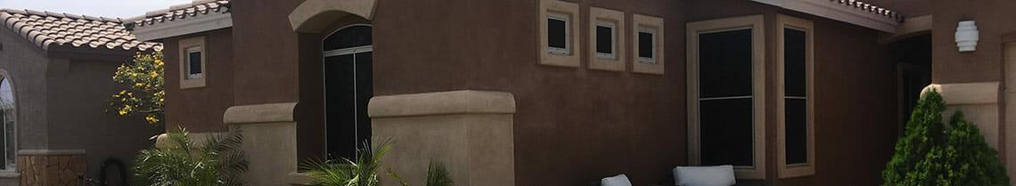 Sun Screens on Phoenix Home